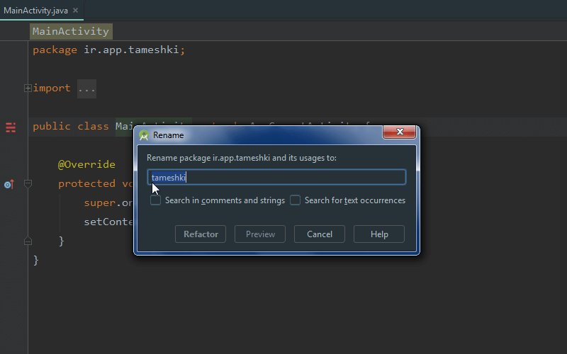 How Rename Packages In Android Studio Ide
